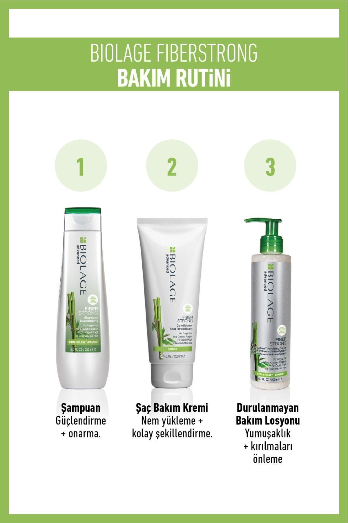 Biolage Fiberstrong Yıpranmış Kolay Kırılan Saçlar Için Güçlendirici Şampuan 250 ml 3