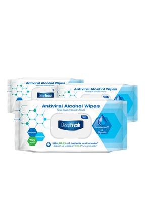 Deep Fresh Alkollü Antiviral Islak Mendil 3'lü Paket 168 Yaprak 1