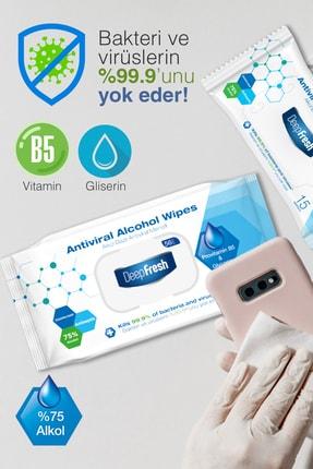 Deep Fresh Alkollü Antiviral Islak Mendil 3'lü Paket 168 Yaprak 3