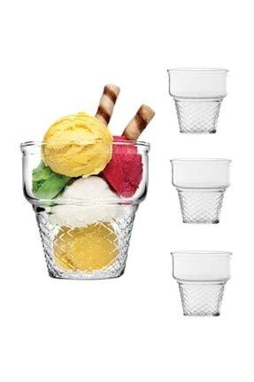 Paşabahçe Dondurmalık Kase Mini Cornet Dondurmalık Takımı 3'lü 1