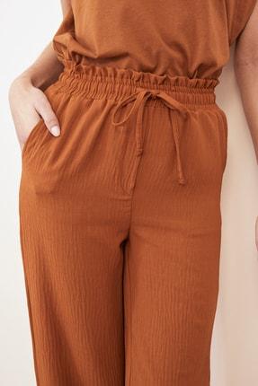 TRENDYOLMİLLA Tarçın Geniş Paça Pantolon TWOSS21PL0261 2