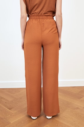 TRENDYOLMİLLA Tarçın Geniş Paça Pantolon TWOSS21PL0261 3