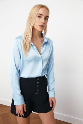 TRENDYOLMİLLA Açık Mavi Basic Gömlek TWOAW20GO0465 1