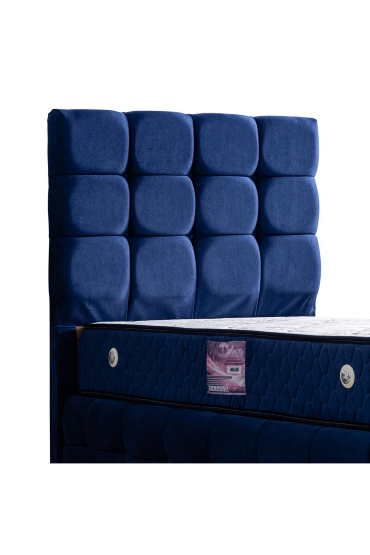 Setay Duke Lux Baza Başlık Deluxe Ortopedik Yatak Seti, Lacivert