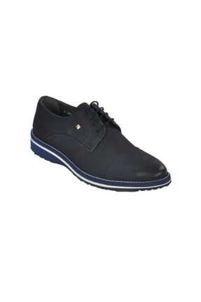 تصویر از 1103 Nubuk Lacivert Erkek Hakiki Deri Klasik Ayakkabı