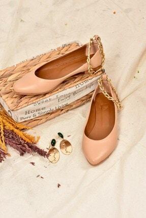 Fox Shoes Ten Zincirli Kadın Babet K726096009 2