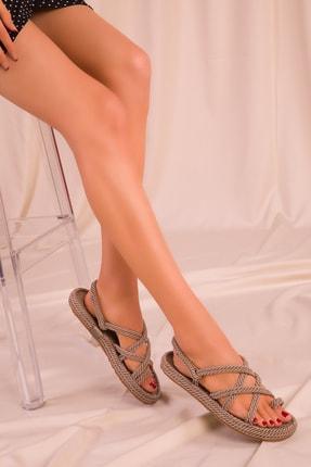 Soho Exclusive Vizon Kadın Sandalet 14737 4