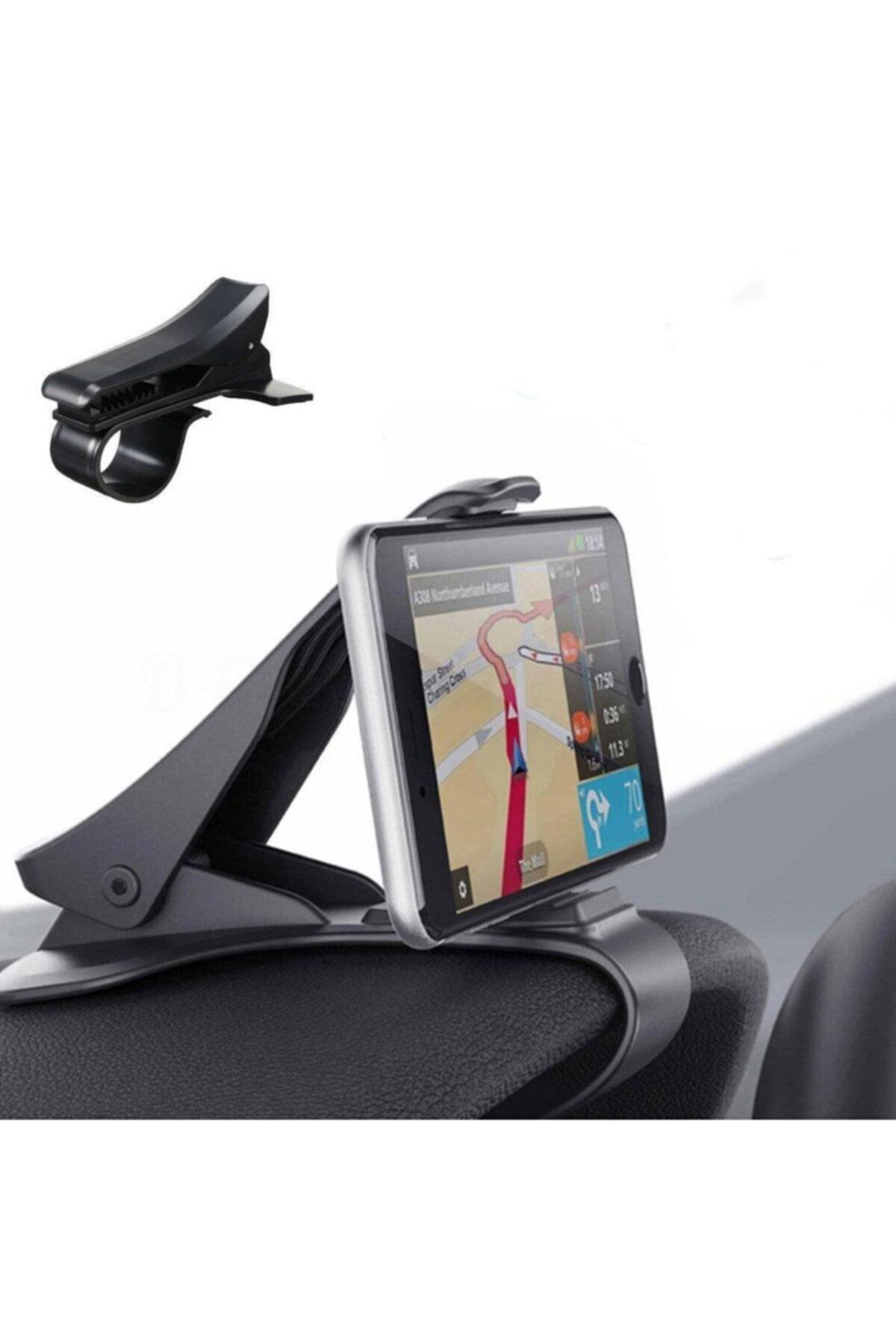 Oto Araç Içi Telefon Tutucu Araba Tutacağı Siyah Gösterge Kıskaç