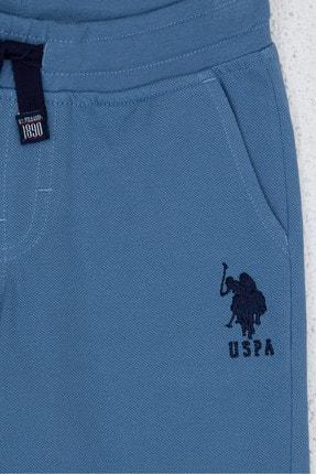 US Polo Assn Mavi Erkek Çocuk Orme Capri Bermuda 2