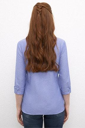 US Polo Assn Mavi Kadın Dokuma Gömlek 1