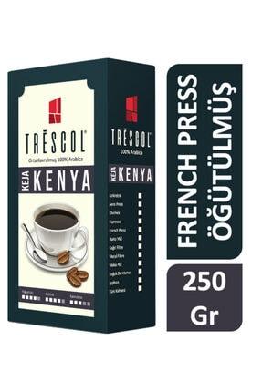 TRESCOL Kenya French Press Için Öğütülmüş Kahve 250 Gr 0