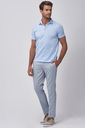 تصویر از Erkek Açık Mavi Slim Fit Desenli Pantolon