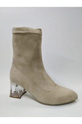 ayakkabıhavuzu Bayan Vizon Rengi Süet Bot 0