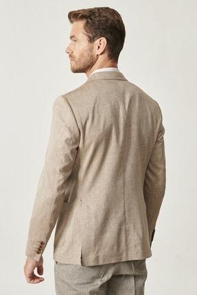 Altınyıldız Classics Erkek Vizon Slim Fit Desenli Ceket 3