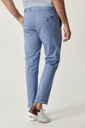 Altınyıldız Classics Erkek Mavi Kanvas Slim Fit Chino Pantolon 2