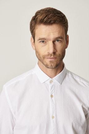 Altınyıldız Classics Erkek Beyaz Tailored Slim Fit Klasik Gömlek Yaka %100 Koton Gömlek 1