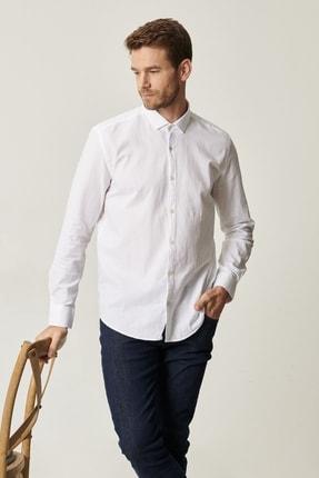 Altınyıldız Classics Erkek Beyaz Tailored Slim Fit Klasik Gömlek Yaka %100 Koton Gömlek 3