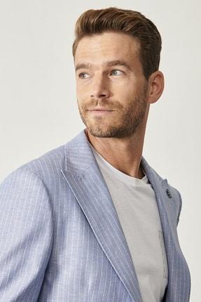 Altınyıldız Classics Erkek Açık Mavi Slim Fit Desenli Ceket 3