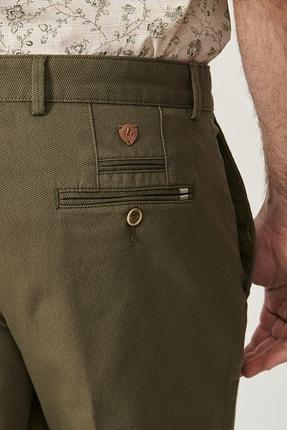 Altınyıldız Classics Erkek Yeşil Slim Fit Desenli Pantolon 4