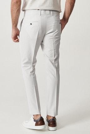 Altınyıldız Classics Erkek Gri Slim Fit Desenli Pantolon 2