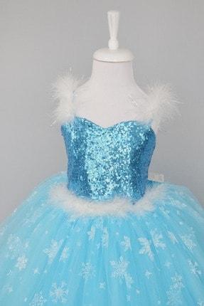 Aslı Türkoğlu Mavi Elsa Elbise 1