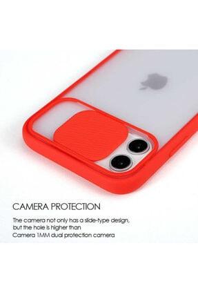 Zengin Çarşım Iphone Xs Max Uyumlu Kırmızı Kamera Lens Korumalı Sürgülü Lüx Kılıf 3