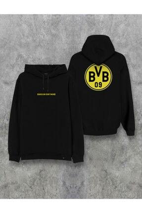 Darkia Borussia Dortmund Çift Taraf Baskılı Kapşonlu Tasarım Hoodie 0