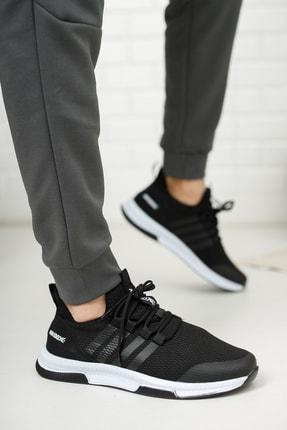 meyra moda Siyah Beyaz Erkek Sneaker 2