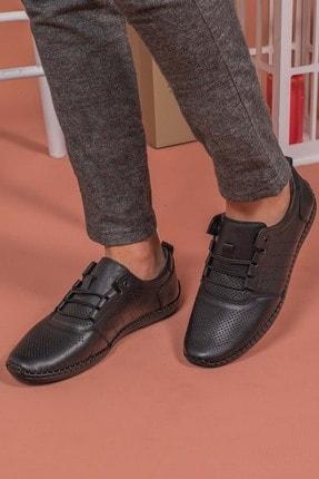 Yağlıoğlu Kundura Erkek Hakiki Deri Topuk Jelli Çarık Ayakkabısı 3