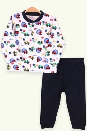 Picture of Erkek Bebek Pijama Takımı Arabalı Beyaz (0-3-4 AY)