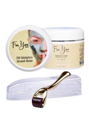 For You Gold Seramik Maske (Akne Karşıtı - Gözenek Sıkılaştırıcı Maske) & Dermaroller 0