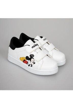 YSRSPOR Unisex Çocuk Beyaz Cırtlı Günlük Spor Ayakkabı 0