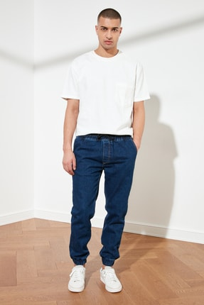 TRENDYOL MAN Lacivert Erkek Relax Fit Jogger Jeans TMNSS21JE0119 2