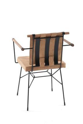 Sesa Home Ahşap Kollu Penyez Sandalye Cappuccino 1