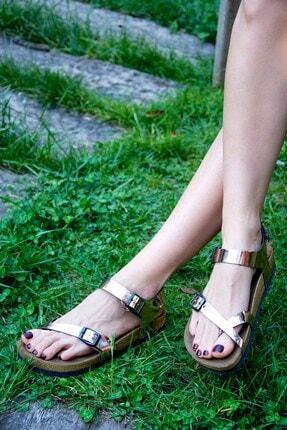 Fox Shoes Bakır Kadın Sandalet H777786034 0