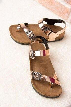 Fox Shoes Bakır Kadın Sandalet H777786034 1