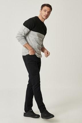 Altınyıldız Classics Erkek Siyah Kanvas Slim Fit Dar Kesim 5 Cep Pantolon 2
