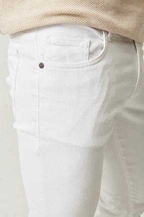 Altınyıldız Classics Erkek Beyaz 360 Derece Her Yöne Esneyen Rahat Slim Fit Pantolon 2
