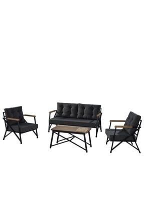 NEJAN Nefin 150 Siyah Oturma Grubu/sehpalı/antrasit 1