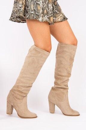 Fox Shoes Vizon Kadın Çizme G572443602 1