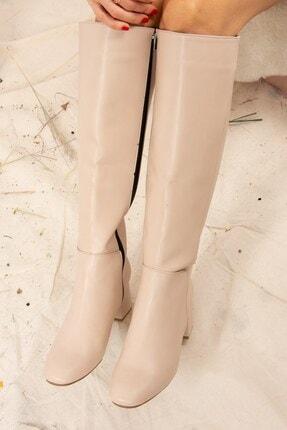 Fox Shoes Ten Suni Deri Kadın Çizme J518023009 2