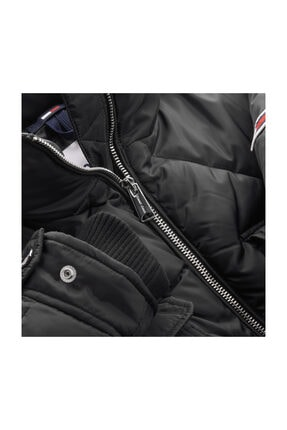Tommy Hilfiger Kadın Siyah Mont Tjw Dıamond Quılted Coat DW0DW09076 2