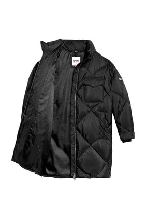 Tommy Hilfiger Kadın Siyah Mont Tjw Dıamond Quılted Coat DW0DW09076 3