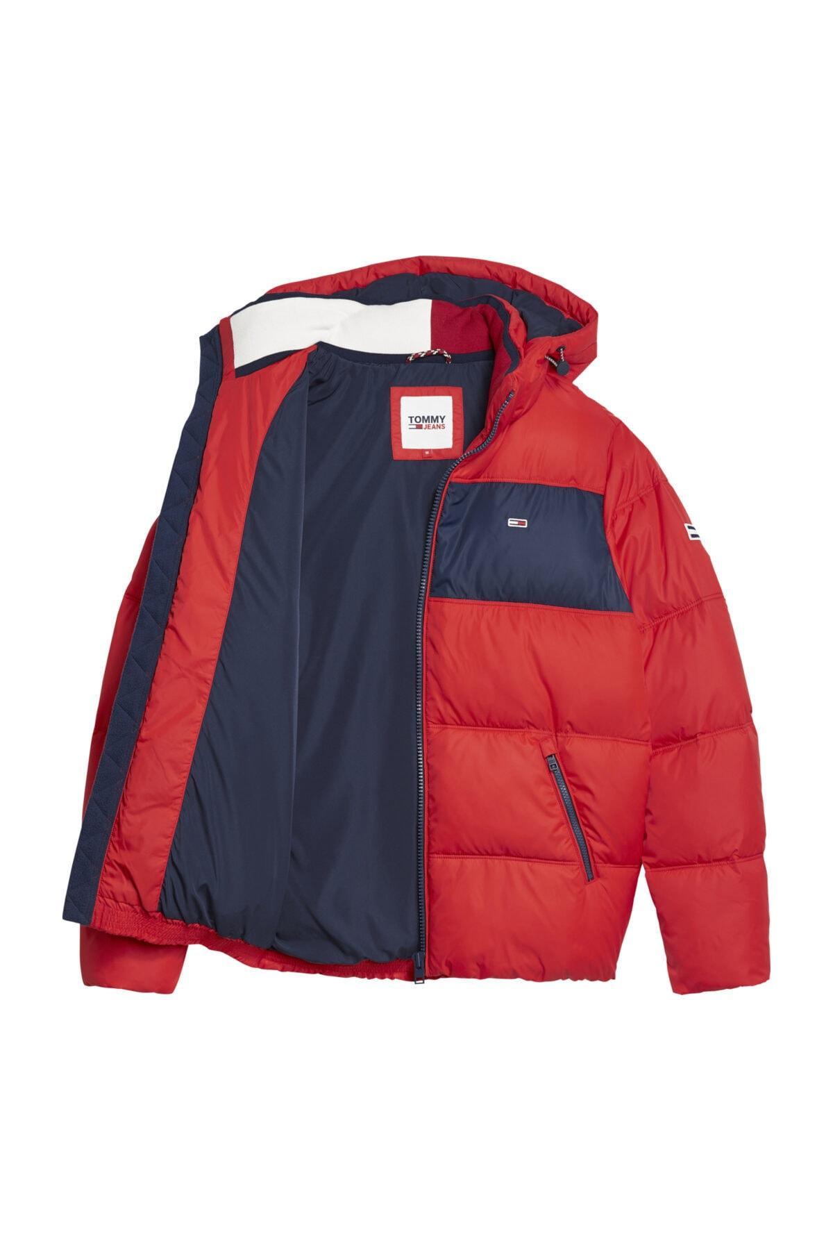 Tommy Hilfiger Erkek Kırmızı Ceket Tjm Colorblock Padded Jacket DM0DM09375