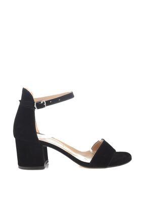 Soho Exclusive Siyah Süet Kadın Klasik Topuklu Ayakkabı 14529 4