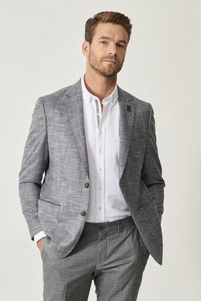 Altınyıldız Classics Erkek Koyu Gri Regular Fit Desenli Ceket 1