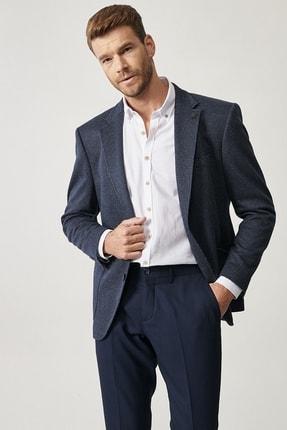 Altınyıldız Classics Erkek Lacivert Slim Fit Desenli Ceket 1