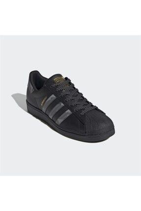 adidas Unisex Siyah Superstar Sneaker 3