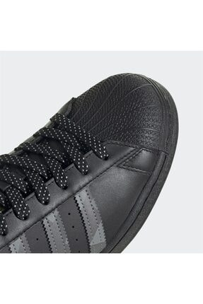 adidas Unisex Siyah Superstar Sneaker 4