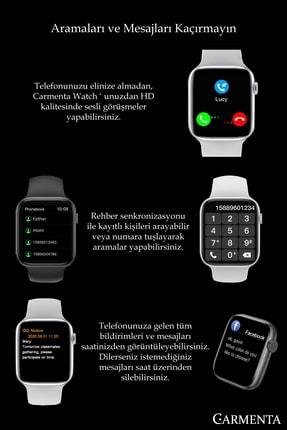 Carmenta Watch X7 Milanese Multifonksiyon Akıllı Saat - Bilek Sensörlü , Ios Ve Android Uyumlu 1